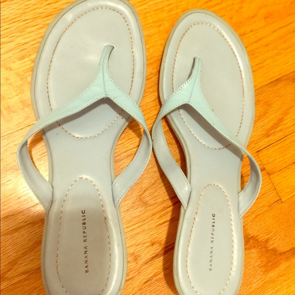 Banana Republic Shoes - Banana Republic Baby blue heeled Sandles size 10